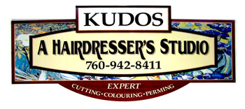 Kudos Salon sign
